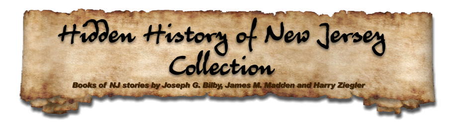 Books of NJ stories by Joseph G. Bilby, James M. Madden and Harry Ziegler  Hidden History of New Jersey Collection